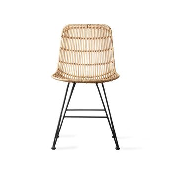 HKliving Rattan stoel naturel