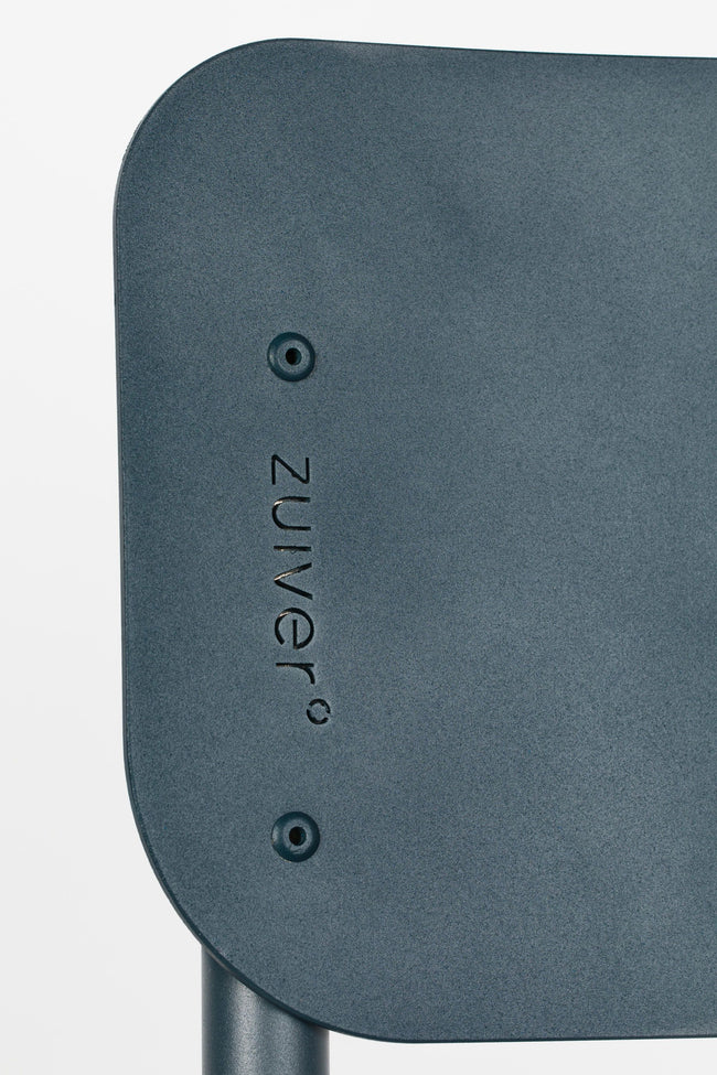 Zuiver Back to School stoel outdoor grey blue