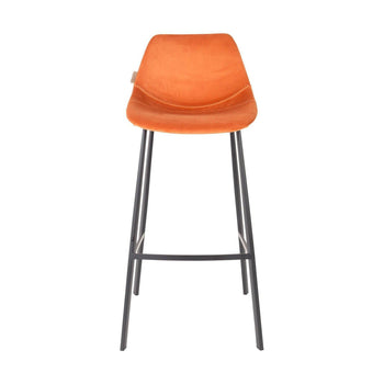 Dutchbone Franky barkruk H106 velvet orange