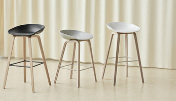 HAY About a Stool AAS 32 Barkruk H75 gezeept white