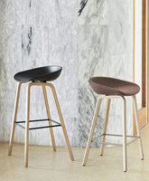 HAY About a Stool AAS 32 Barkruk H75 gelakt waterbasis dusty green