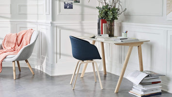HAY About a Chair AAC 23 eetkamerstoel gelakt waterbasis - geel