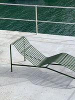 HAY Palissade chaise lounge hot galvanised