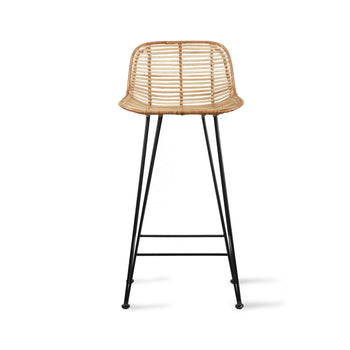 HKliving Rattan barkruk natural