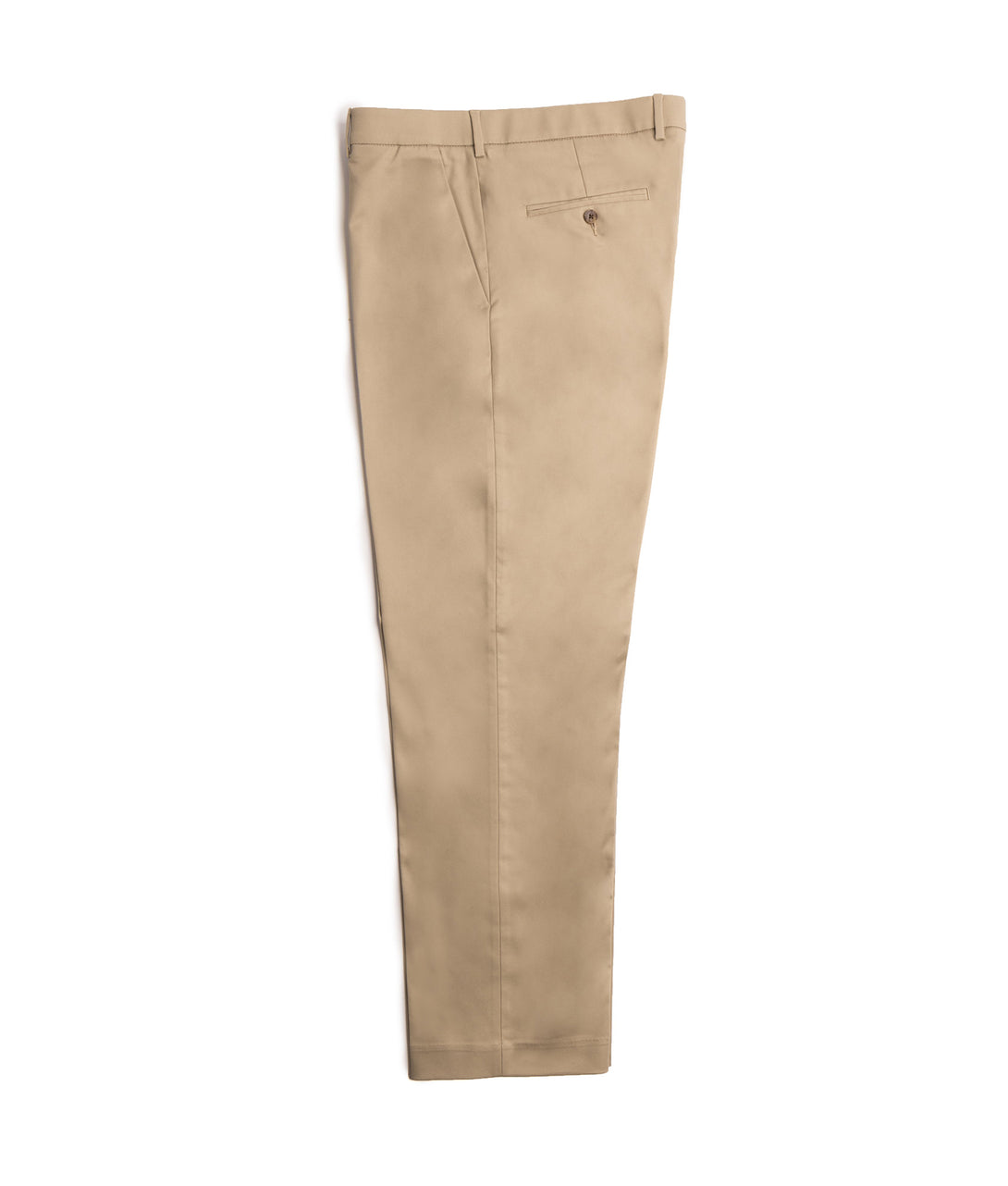 Khaki Traditional Twill Flat Front Chino Pant with Magnetic Fly | JUNIPERunltd