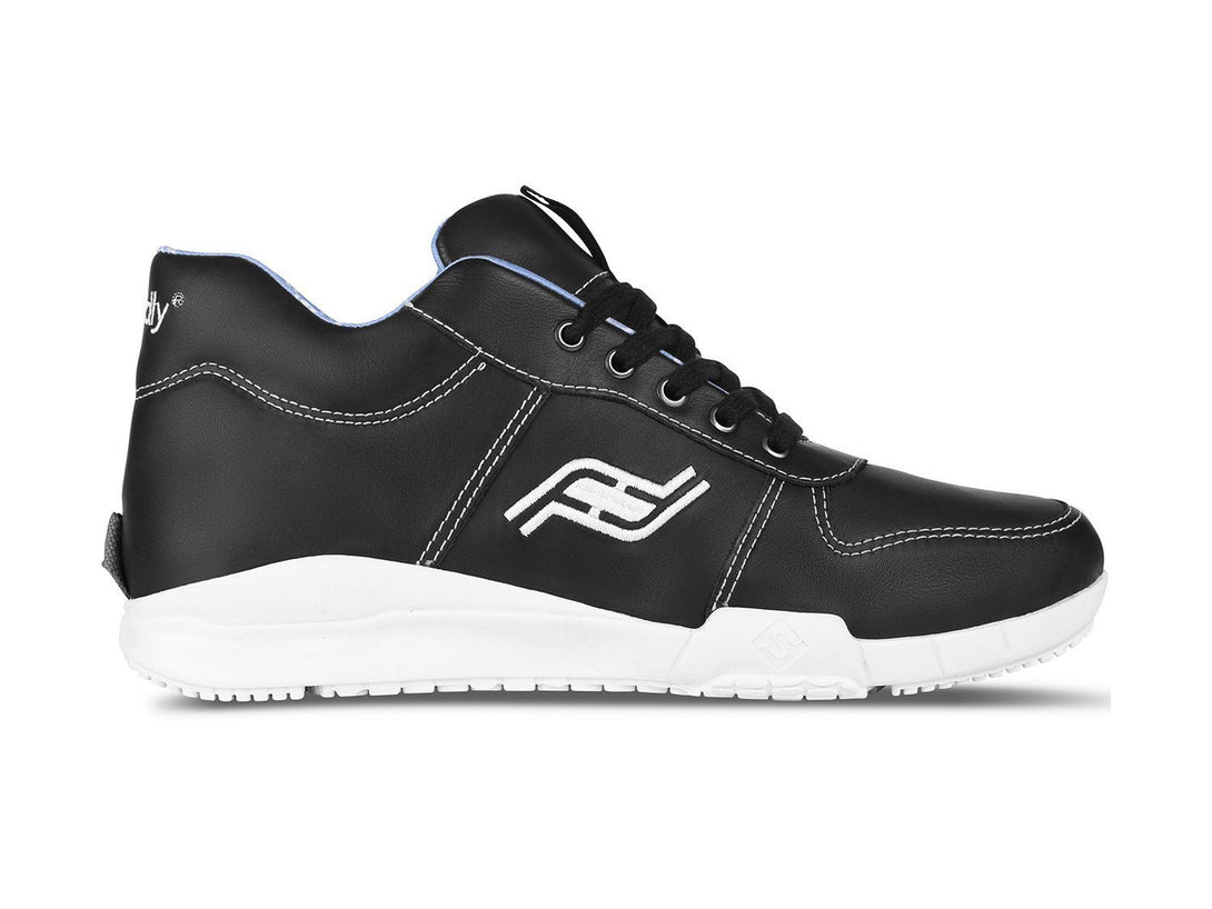 Men's Medimoto Black & White Leather Shoe