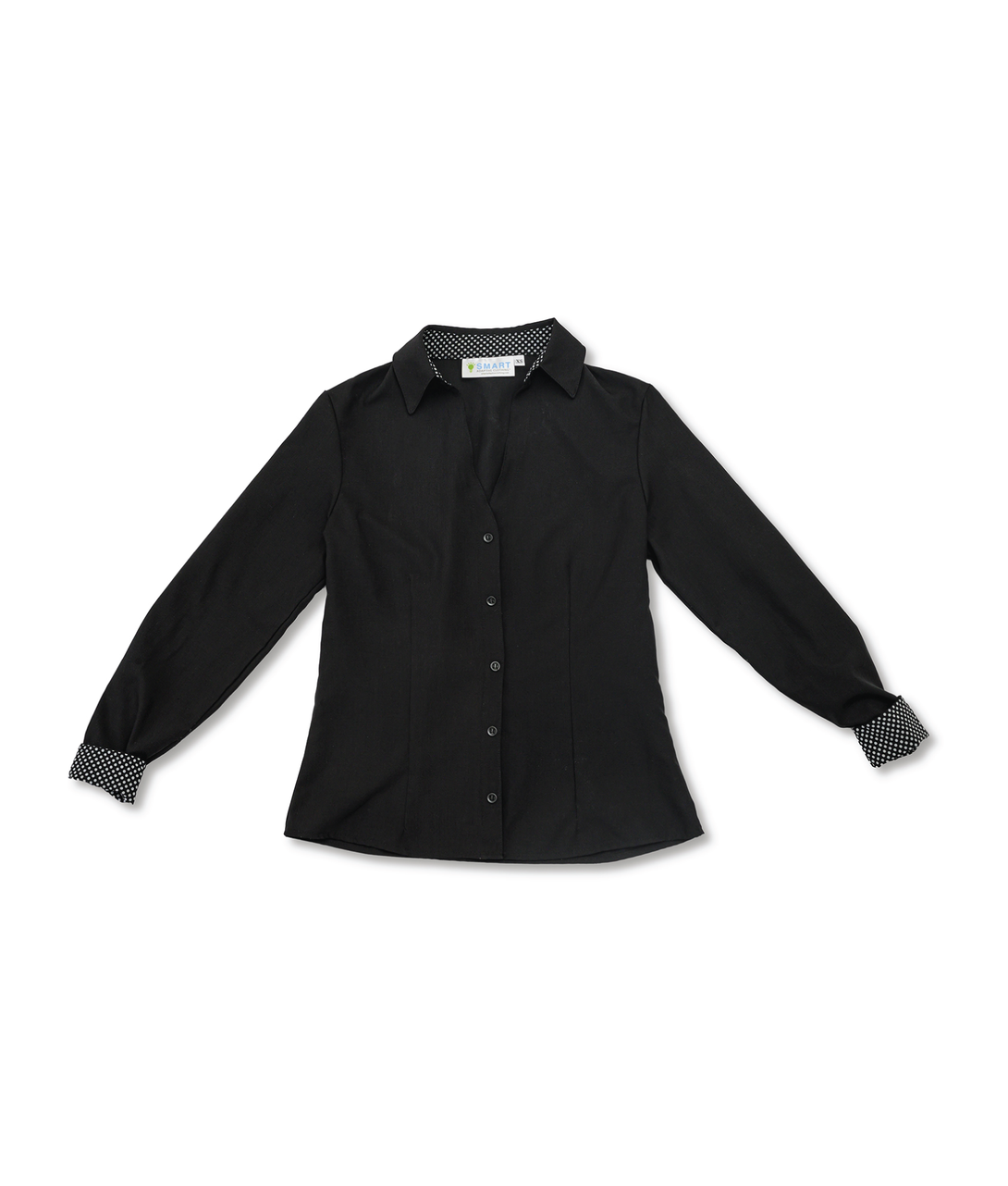 Alana Soul Adaptive Blouse in Black with White Trim
