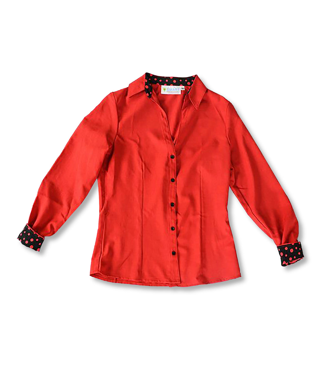 Alana Soul Adaptive Blouse in Red with Black/Red Trim
