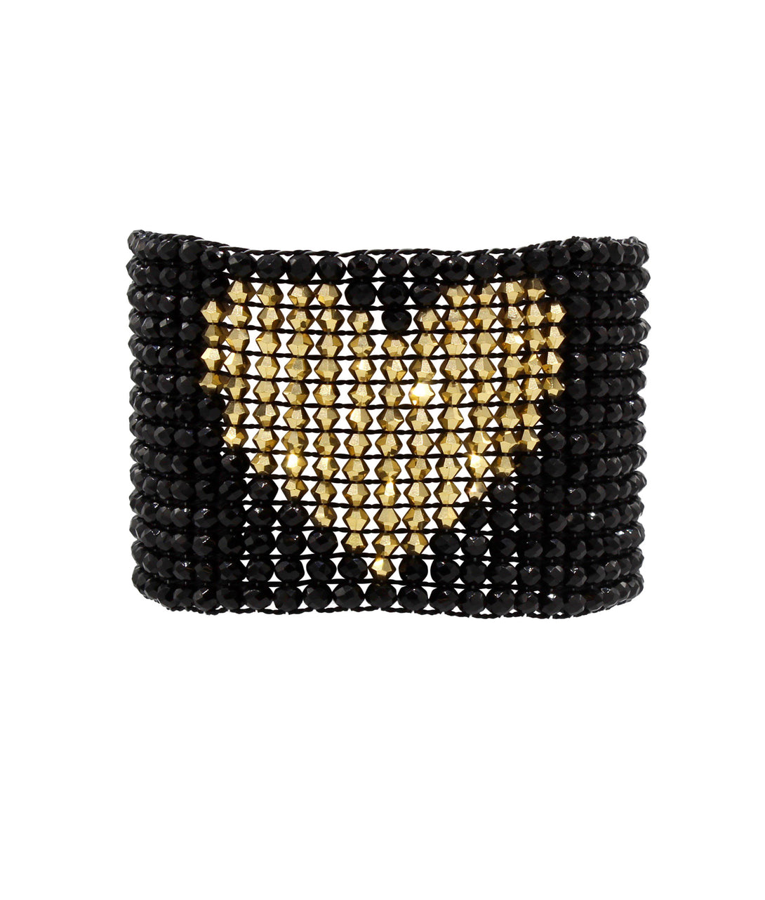 Cuore Cuff With Magnetic Closure in gold dust