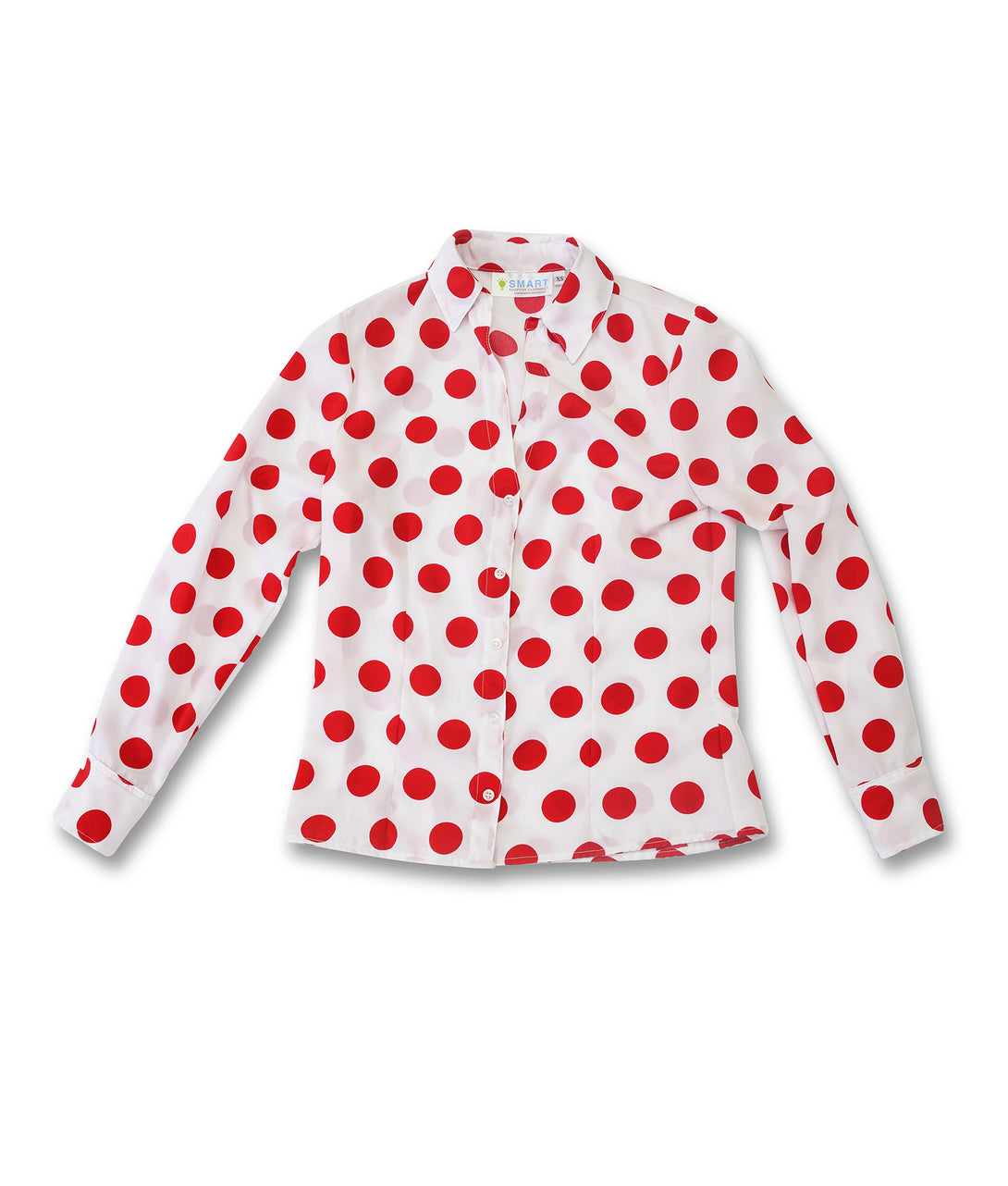Alana Soul Adaptive Blouse in White with Red Dots