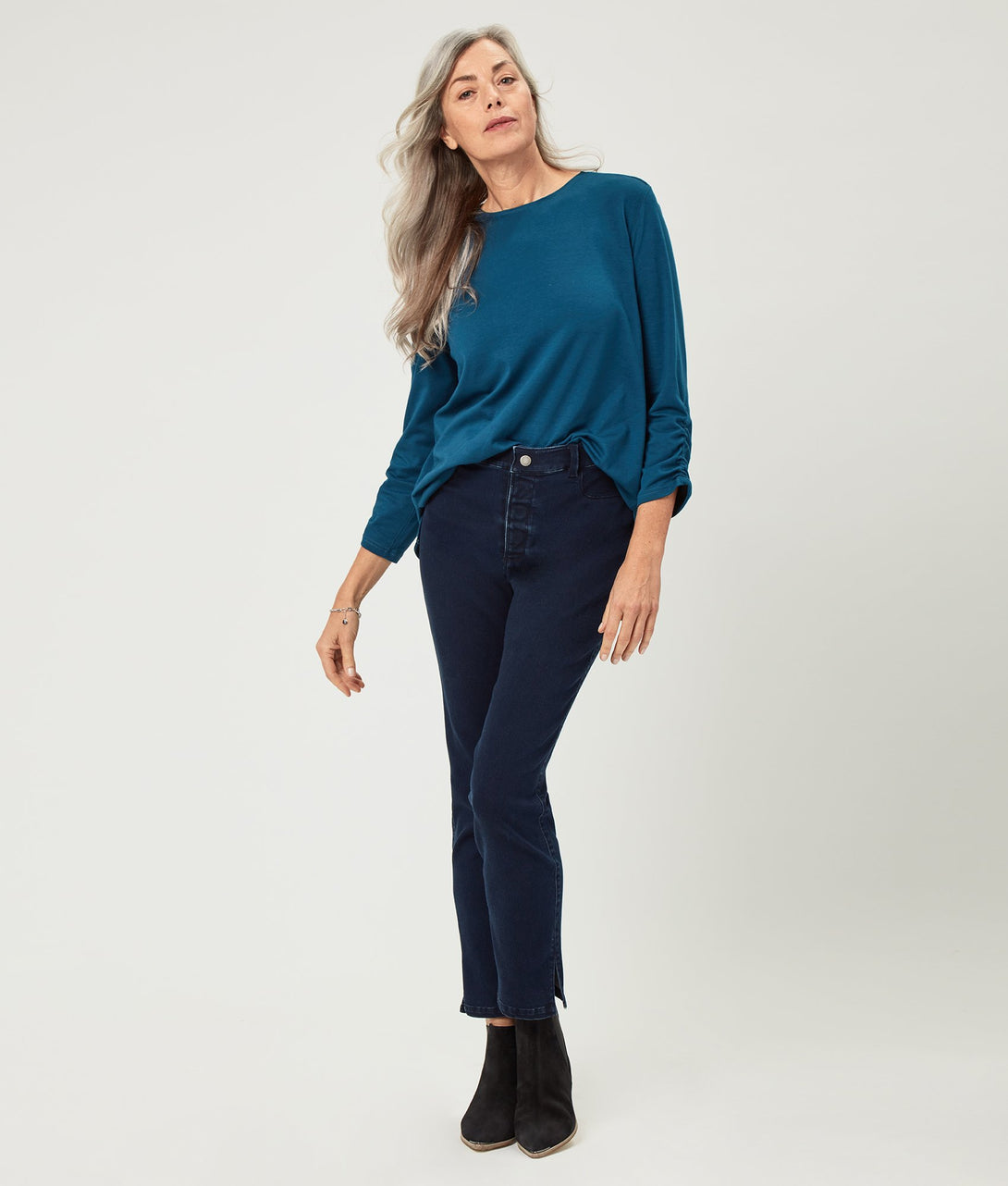 The Kaycee Ultra Stretch Skinny Jean in Dark Indigo Wash