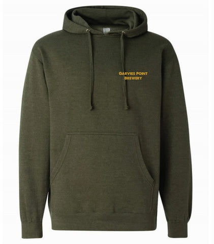 Garvies Point Brewery Pullover Hoodie - Army Heather