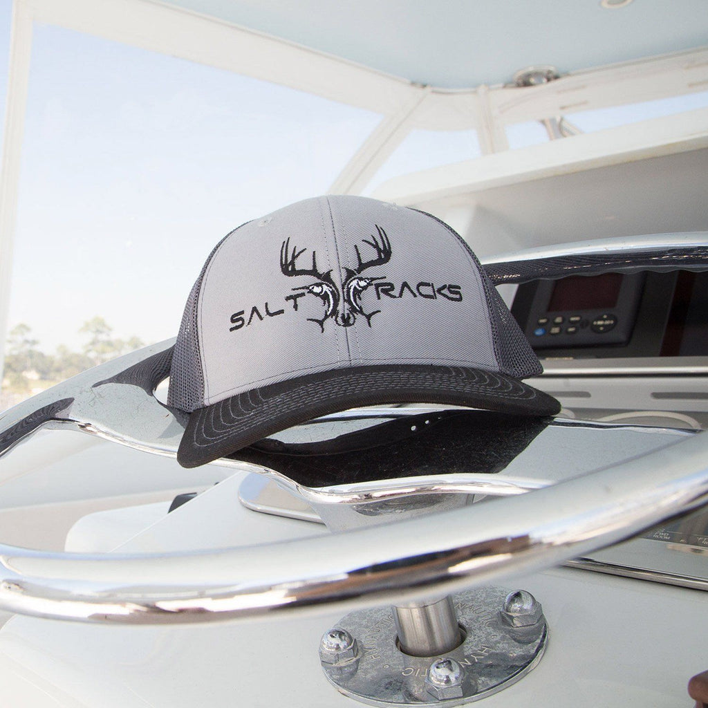 Hat-Gray/Black Headwear Salt Racks