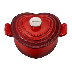 Le+Creuset+Enameled+Cast+Iron+2+Qt+Heart+Shaped+Casserole+-+Cerise