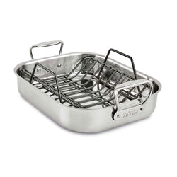 All-Clad+Roasting+Pans+14%22+x+11%22+All-Clad+Large+Roasting+Pan+with+Rack+JL-Hufford