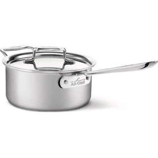 All-Clad Saucepans 3 Qt. All-Clad d5 Brushed Stainless Sauce Pan with Lid JL-Hufford