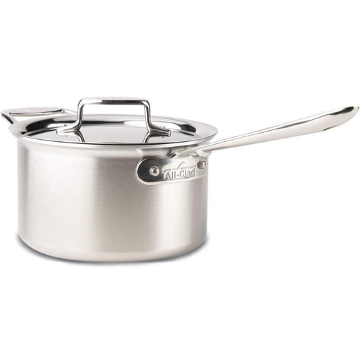 All-Clad Saucepans 4 Qt. All-Clad d5 Brushed Stainless Sauce Pan with Lid JL-Hufford