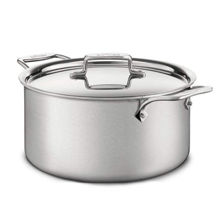 All-Clad Stockpots & Soup Pots 8 Qt. All-Clad d5 Brushed Stainless Stockpot JL-Hufford