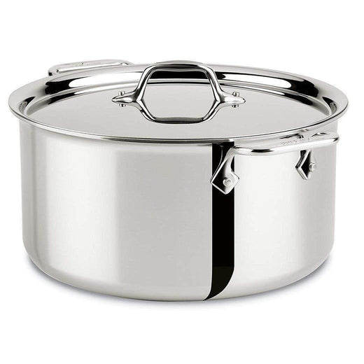 All-Clad Stockpots & Soup Pots 8 Qt. All-Clad Stainless Stockpot with Lid JL-Hufford