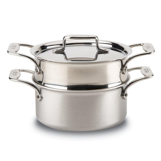All-Clad Dutch Ovens and Braisers All-Clad d5 Brushed Stainless 3 qt Casserole Pan with Steamer JL-Hufford