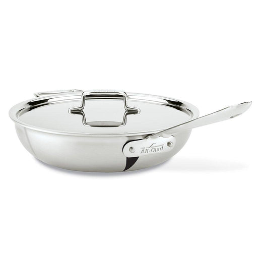 All-Clad Skillets & Frying Pans All-Clad D5 Brushed Stainless Steel 4qt. Weeknight Pan JL-Hufford