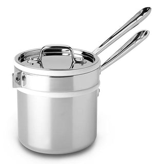 All-Clad Steamers & Double Boilers All-Clad Stainless Sauce Pan with Double Boiler, 2 Qt JL-Hufford