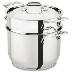 All-Clad+Specialty+Cookware+All-Clad+Stainless+Steel+6+Qt+Pasta+Pot+with+Insert+JL-Hufford