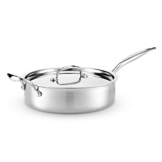 American Clad Cookware Saute & Sauteuse Pans 4 Qt. American Clad 7-ply Stainless Sauté Pan with Lid JL-Hufford