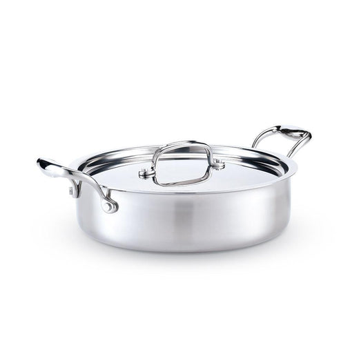 American Clad Cookware Saute & Sauteuse Pans 4 Qt. American Clad 7-ply Stainless Sauteuse with Lid JL-Hufford