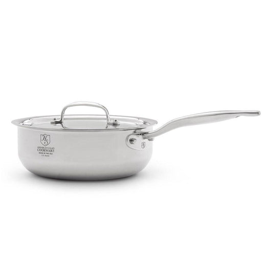 American Clad Cookware Saucepans American Clad 7-ply Stainless 3 Qt. Saucier Pan with Lid JL-Hufford