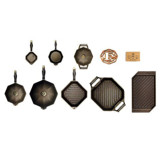 FINEX 12-Piece Ultimate Cast Iron Set
