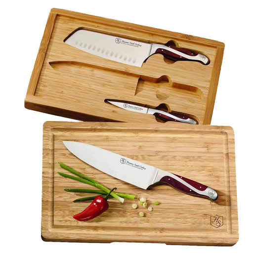 Hammer Stahl 3-Piece Knife Set with Bamboo Case