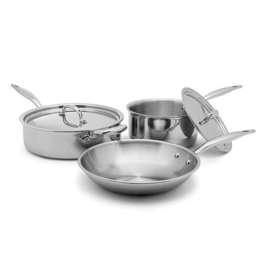 Heritage Steel 7-ply Stainless Essentials Cookware Set - 5 Piece