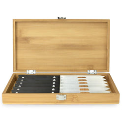 KAI+6+Piece+Steak+Knife+Set+with+Bamboo+Presentation+Box