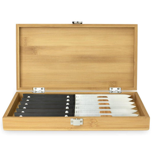 KAI 6 Piece Steak Knife Set with Bamboo Presentation Box