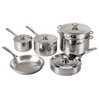 Le Creuset Cookware Sets Le Creuset 10 Piece Stainless Steel Cookware Set JL-Hufford