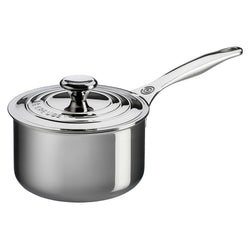 Le+Creuset+Saucepans+Le+Creuset+3+Qt.+Stainless+Steel+Saucepan+with+Lid+JL-Hufford