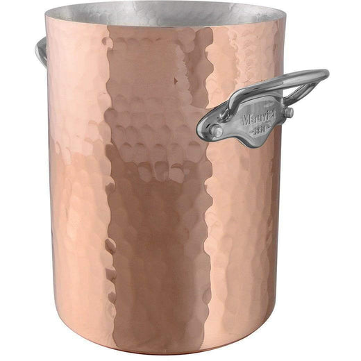 "Mauviel Wine, Bar & Ice Tools 6.4"" Mauviel M'30 Hammered Copper Champagne Bucket JL-Hufford"