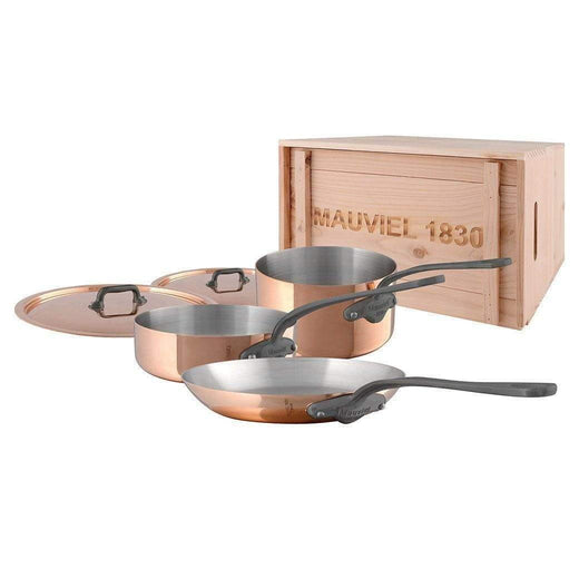 Mauviel Pans Mauviel M'150c 5 Piece Copper Cookware Set with Crate JL-Hufford