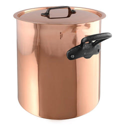 Mauviel+Stockpots+%26+Soup+Pots+Mauviel+M%27150c+Copper+tin-lined+Stewpan+with+Lid+-+11.7qt+JL-Hufford