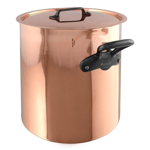 Mauviel Stockpots & Soup Pots Mauviel M'150c Copper tin-lined Stewpan with Lid - 11.7qt JL-Hufford