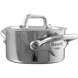 Mauviel+Specialty+Bakeware+Mauviel+M%27Cook+Mini+Stainless+Steel+Cocotte+-+3.5%22+JL-Hufford