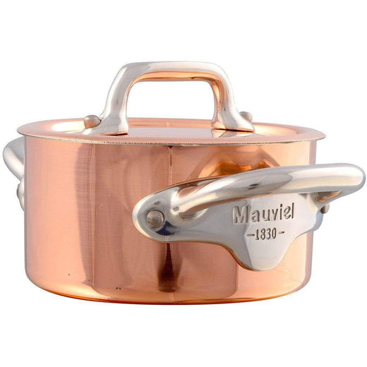 Mauviel Specialty Cookware Stainless Steel Mauviel M'Heritage Mini Copper Cocotte with Lid JL-Hufford