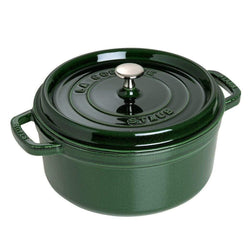 Staub+Dutch+Ovens+and+Braisers+Basil+Staub+Cast+Iron+13.25-qt+Round+Cocotte+JL-Hufford