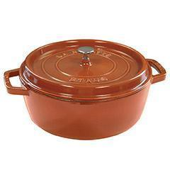 Staub Dutch Ovens and Braisers Burnt Orange Staub Cast Iron 6-qt Shallow Wide Round Cocotte JL-Hufford