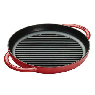 "Staub Grill Pans & Griddles Cherry Staub Cast Iron 10"" Pure Grill JL-Hufford"