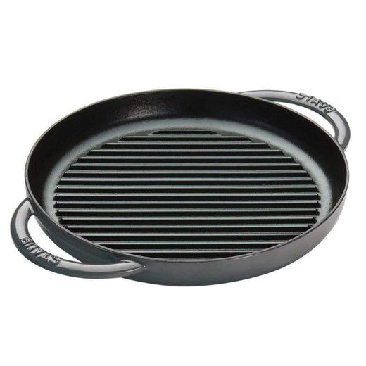 "Staub Grill Pans & Griddles Graphite Grey Staub Cast Iron 10"" Pure Grill JL-Hufford"
