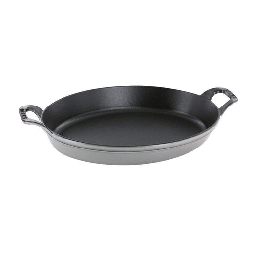 "Staub Bakers & Casseroles Graphite Grey Staub Cast Iron 14.5"" X 11.2"" Oval Baking Dish JL-Hufford"