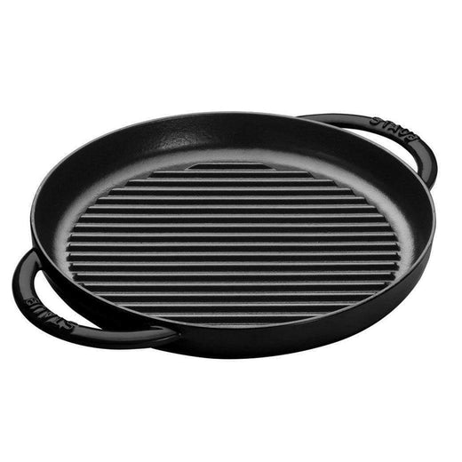"Staub Grill Pans & Griddles Matte Black Staub Cast Iron 10"" Pure Grill JL-Hufford"