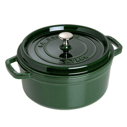 Staub+Dutch+Ovens+and+Braisers+Staub+Cast+Iron+9-qt+Round+Cocotte+-+Basil+JL-Hufford